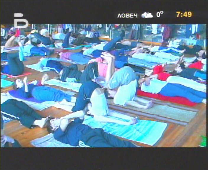 В залата по Йога в НСА, 2004 год.