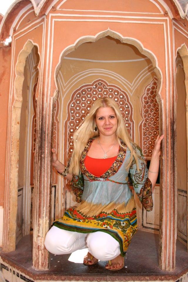 Индия 2012 В Двореца на Ветровете в Джайпур.