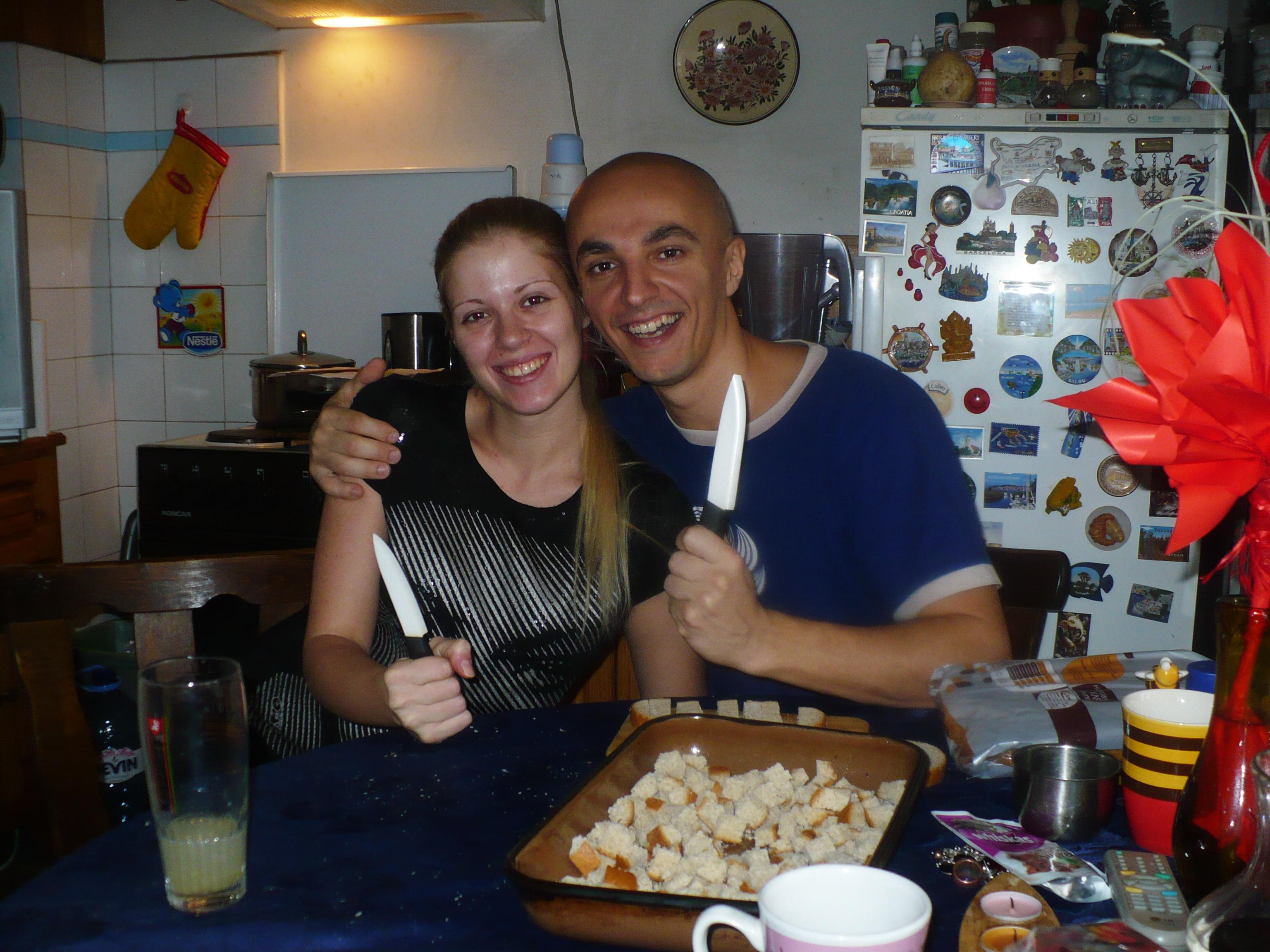 Семейна идилия с керамични ножове :-D