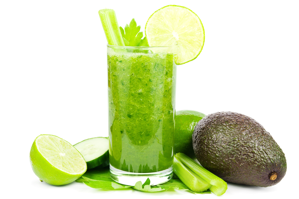 green smoothie avocado