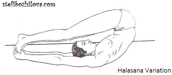 Halasana variation