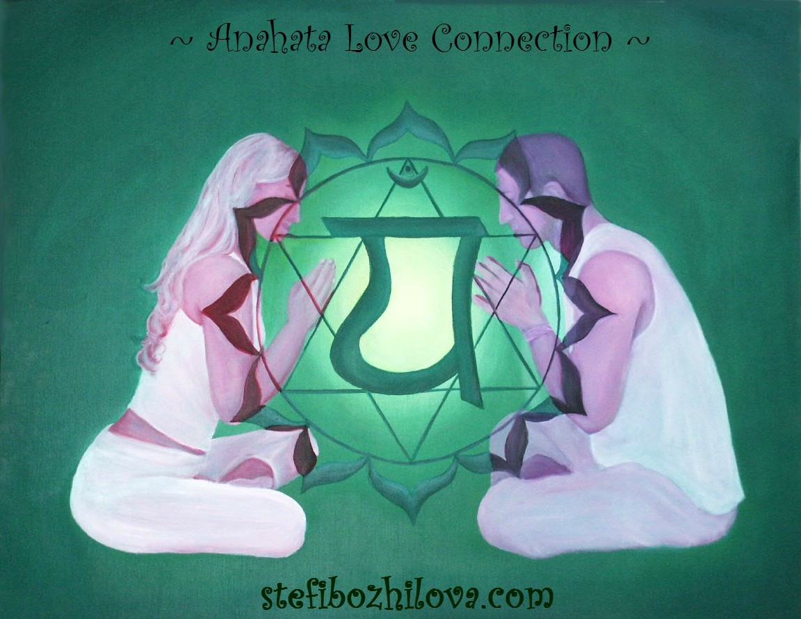 Love connection via Anahata chakra