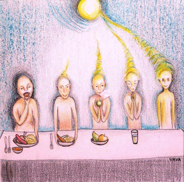 Sun Food Human Evolution - living on light