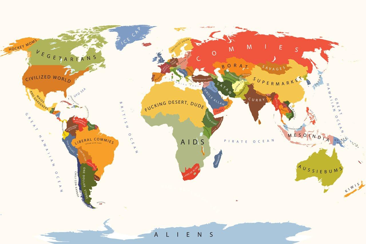 Световна карта на предразсъдъците :-)