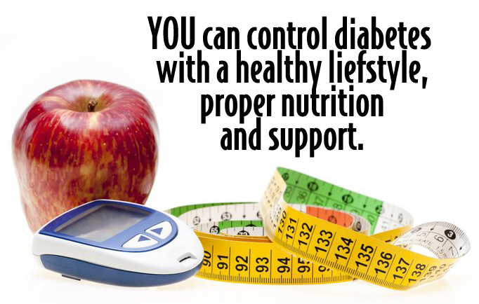 YOU can control diabetes with healthy lifestyle and sport
