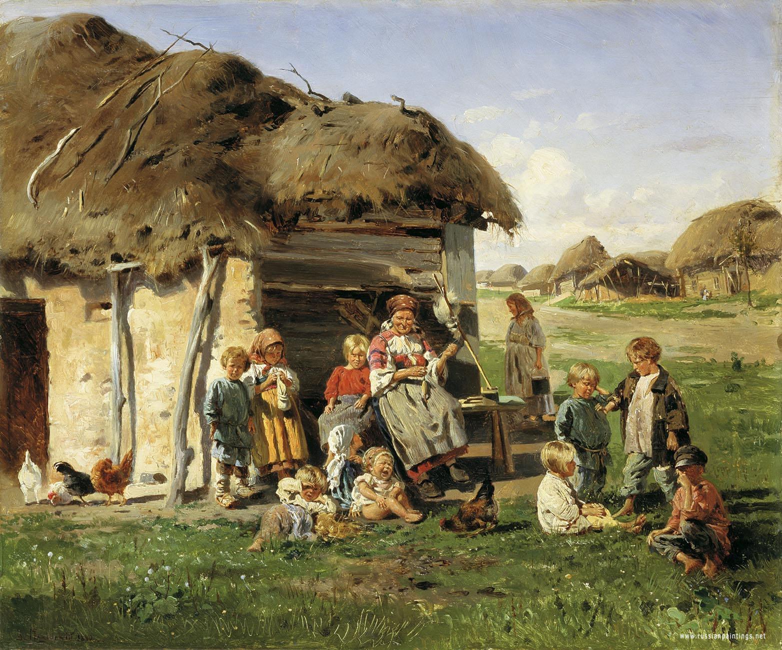 """Картина на Владимир Маковский - """"Селски деца 1890 г."""""""
