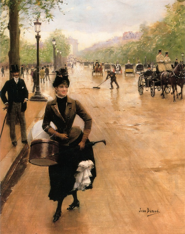 Champs-Elysees-Elegant-Lady-in-the-19th-century