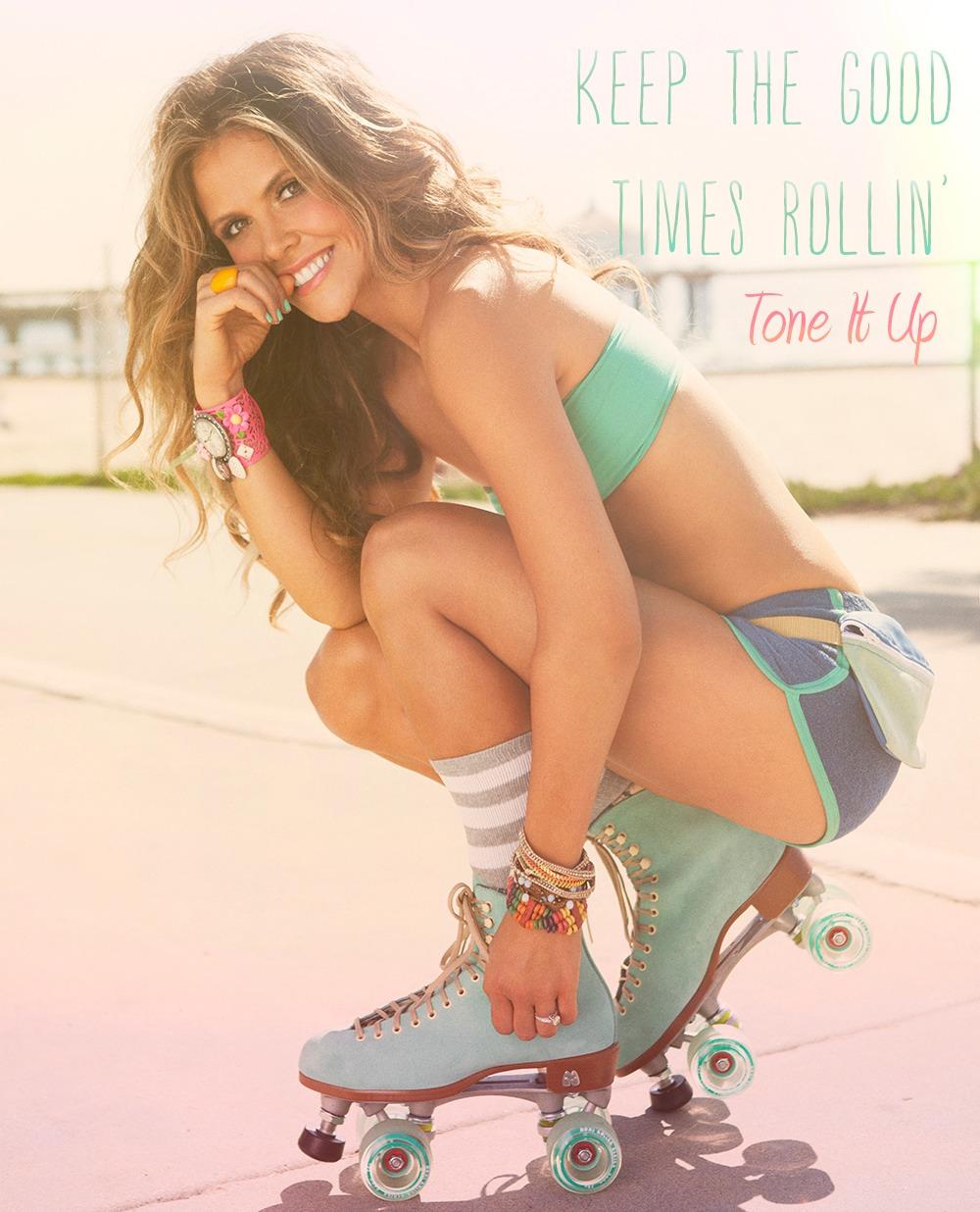 Girl woman roller skates