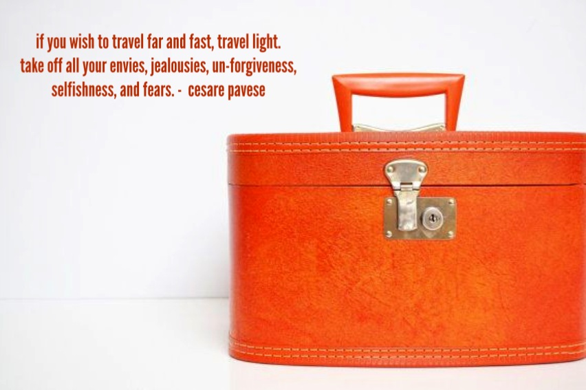 Travel light in life