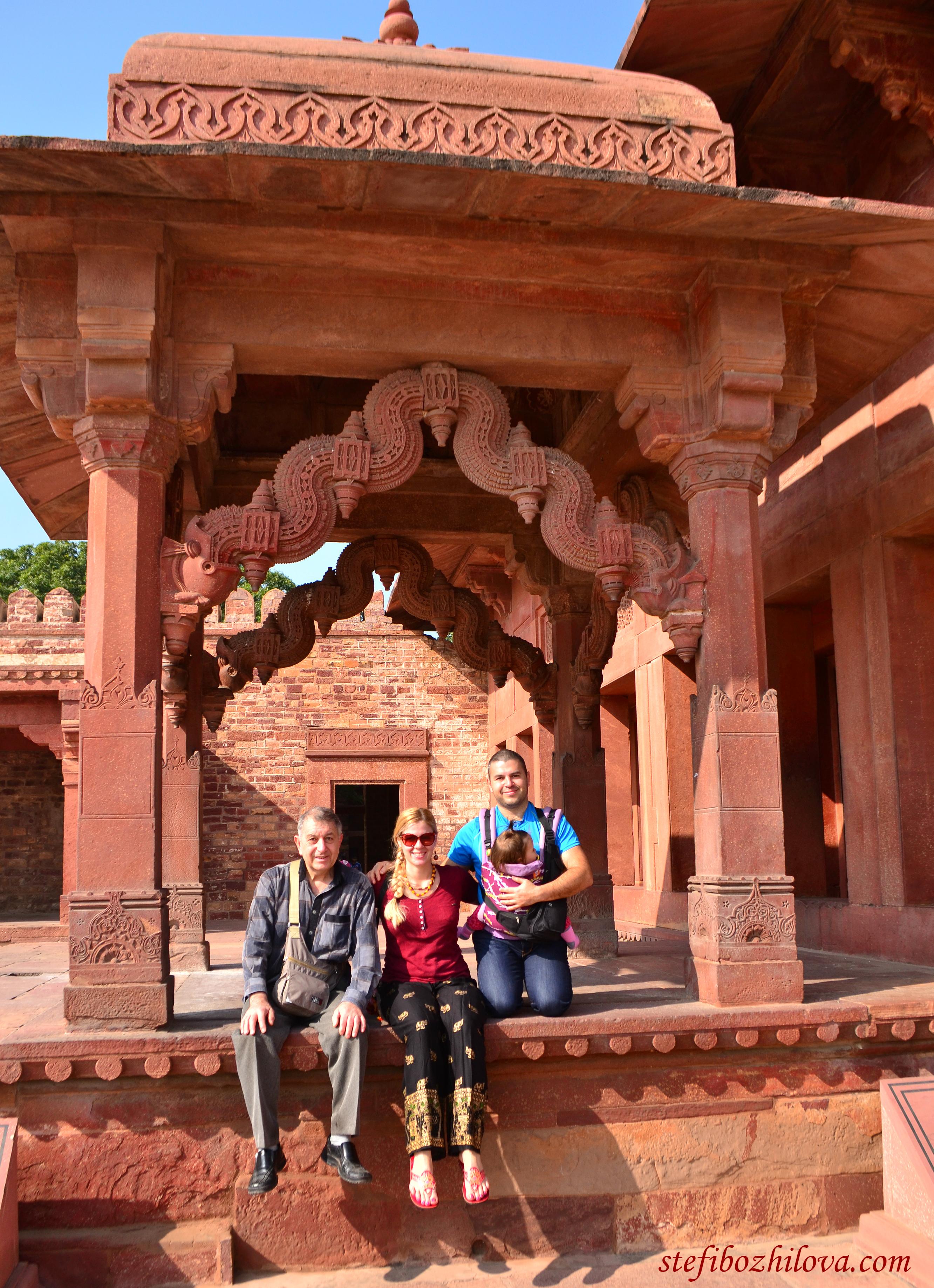 В древния храмов комплекс Фатехпур Сикри