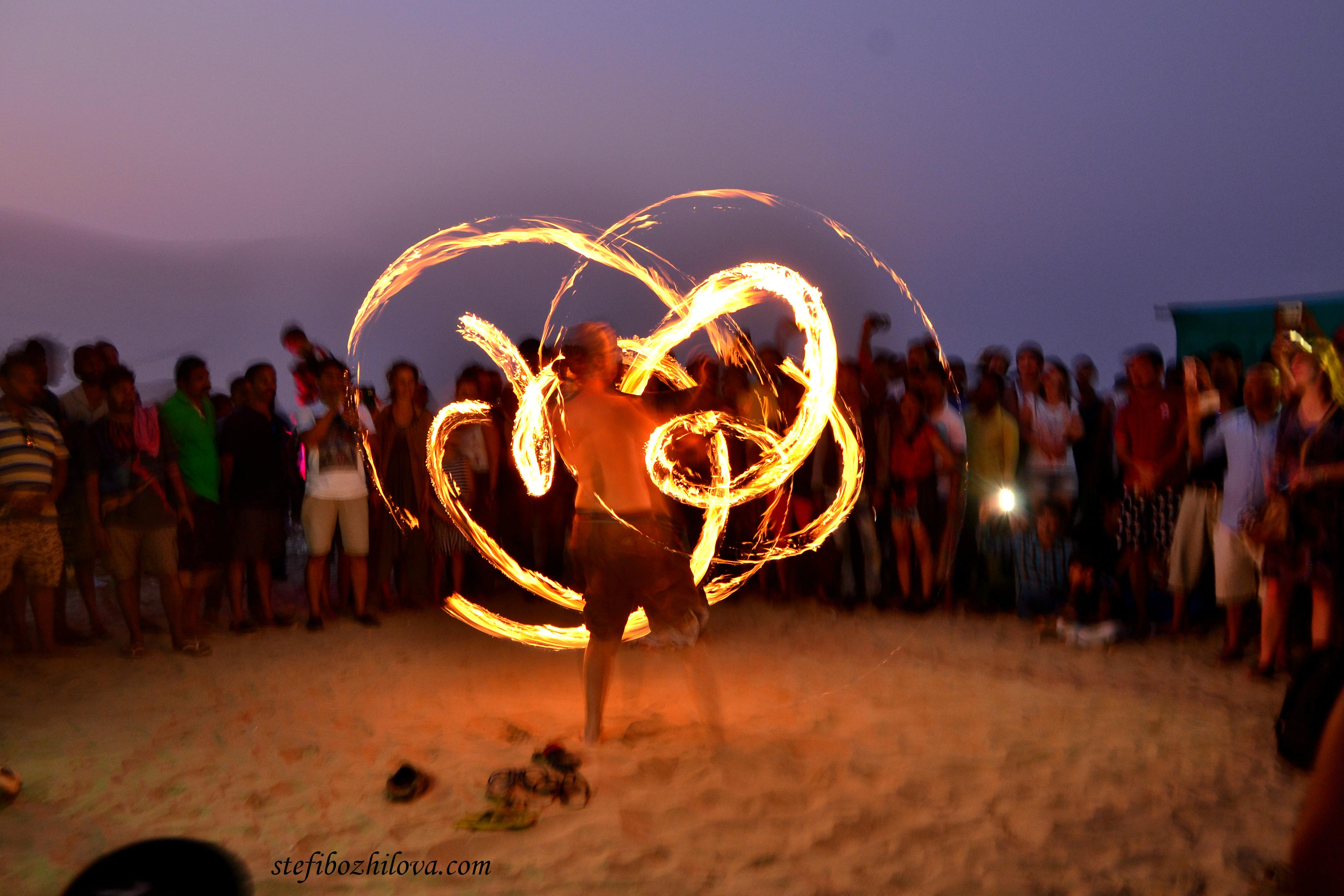 Fire show Arambol